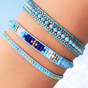 Jewelry - 🎉 SALE! LAST SET Blue Multi Color Boho Bracelets